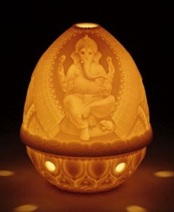 Lithopane Votive Ganesha