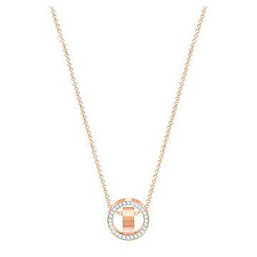 Swarovski-Hollow-Pendant-Small-White-Rose-gold-plating-5289495-W360