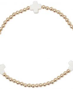 signature cross bracelet off white