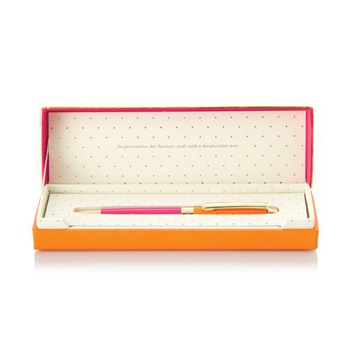 Ballpoint Pen-Orange and Pink 1