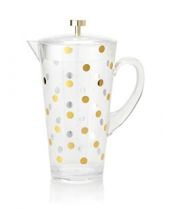Raise a Glass Acrylic Pitcher in Gold Dots